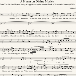 William Croft: A Hymn on Divine Musick