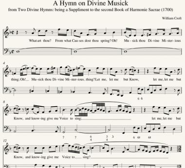 William Croft: A Hymn on Divine Musick